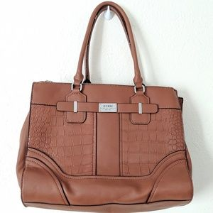 ☕Guess large brown tote purse
